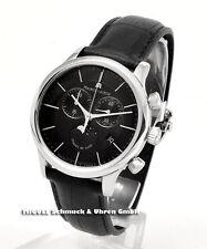 Maurice Lacroix Quarz-(Batterie) Armbanduhren aus echtem Leder und Edelstahl