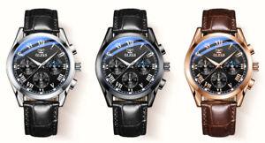 Luxury watches quartz men watches leather strap 30M waterproof gift