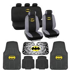 Batman Full Gift Set - Rubber Floor Mats, Seat Covers, Autoshade Car & SUV
