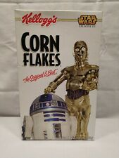 Kellogg's CORN FLAKES Star Wars: Episode III R2-D2 & C3PO Cereal Box FULL! 2005