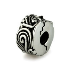 BEAD AUTHENTIC OHM BEADS STOPPER CLIP Water-ness WHLS009  EUROPEAN SILVER 925