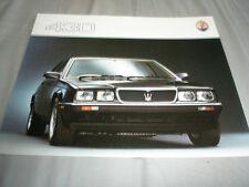 Maserati 430 brochure c1982 English text