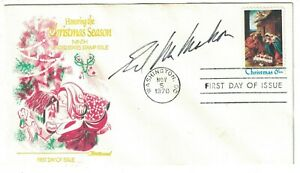 Ed McMahon autograph on first day cover