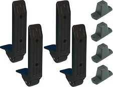 Je 4x 40mm Kanten-Aufbau-Rolle + Plastikfüße - Fuss Koffer-Rolle Bock-Rolle NEU
