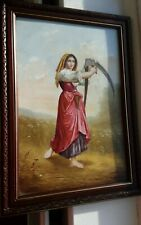More details for painted porcelain wall plaque ,signed , kpm,style  14x 10 inch
