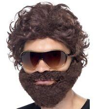 Hombre Despedida de Soltero Peluca Set Resaca Disfraz Kit Barba Gafas Smiffys