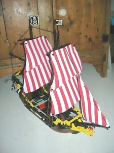 BRAND NEW RED & WHITE SAILS TO FIT LEGO PIRATES 6285 BLACK SEA BARRACUDA SHIP