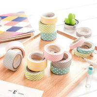 5Rolls DIY Self Adhesive Washi Paper Masking Tape Label Sticker Craft Decoration