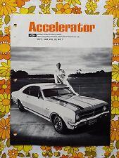 ACCELERATOR Oct 1968 Vol.25 No.7 GMH NASCO Parts Holden magazine Monaro HK