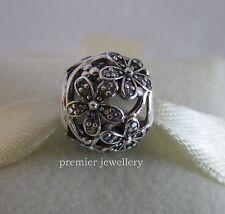 Authentic Genuine Pandora Silver Dazzling Daisy Meadow Clear CZ Charm 791492CZ