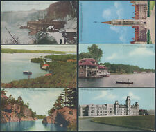Lot of 6 Unused Royalty Series Post Cards, Ontario Scenes