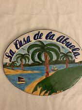 Ceramic Spanish Tile la casa de la abuela House Sign