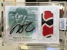 Dustin Pedroia 2015 Topps Dynasty Auto 3 Color Patch 5/5