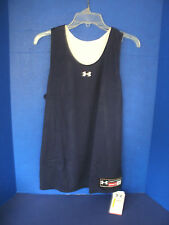 Under Armour~Navy Blue & White REVERSIBLE~HEATGEAR~LOOSE Sleeveless Top~Med~NWT