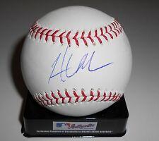 Hunter Morris Signed Official Major League Game Baseball w/COA Brewers