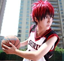 Kuroko's Basketball Kagami Taiga short Dark Red Gradient Cosplay Party Hair Wig