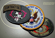 PRIVATE MILITARY CONTRACTOR PMC DIPLOMATIC SECURITY: Hello Kitty + Multicam Tab
