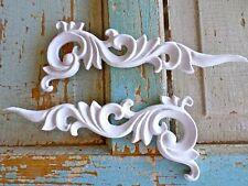 Shabby n Chic Carved Corners (2) * Furniture Appliques * Wood & Resin *Stainable