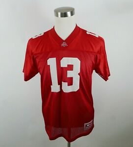 Ohio State Buckeyes Boys Girls SS Red Football Jersey Colosseum Youth L/XL