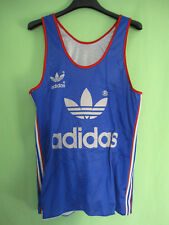 Maillot Adidas Equipe de France Athlétisme running Tee shirt vintage jersey - S
