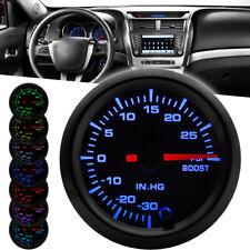 2'' 52mm Car 7 Color LED Turbo Boost Psi Pressure Vacuum Pointer Gauge Meter