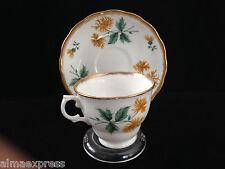 ROYAL MALVERN Bone China England Dahlia Flower Tea Cup & Saucer Set