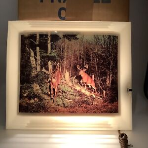 HELMSCENE Vintage Mid Century Wall Art No 82 Whitetail Bucks In Box With Tag