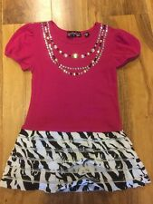 Tempted Girls Ruffles And Diamontees Studs Dress  Size 3T