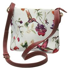 Side Saddle Women's Crossbody Bag - Hummingbird Garden Tapestry Print Purse