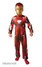 Boys Iron Man Classic Fancy Dress Costume Avengers Civil War Child Age 3-4 New