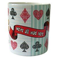 Modern Alice in Wonderland Mug, We're All Mad Here Mug, Completely Bonkers Mug.