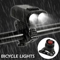 Lumière bicyclette LED 2000LM USB vélo rechargeable lampe avant feu arrière