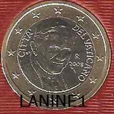 1 EURO OFFICIELLE BU VATICAN 2008   RARE