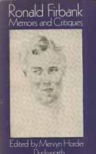 "RONALD FIRBANK - ""MEMOIRS AND CRITIQUES"" - EDITED BY MERVYN HORDER - PB (1979)"