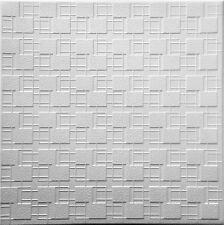 Styrofoam Glue Up Ceiling Tile DIY popcorn cover. 48 tiles. ~130 sq.ft. #RM-83