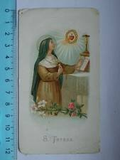 Vecchio santino SANTA TERESA