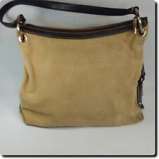 Antonio Melani Suede Leather Camel Bag Purse 9.5 x 13 x 5