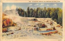 Yellowstone National Park 1940s Postcard Cleopatra Terrace