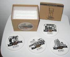 RESORTS CASINO-HOTEL Atlantic City 40th Anniversary Ceramic Coaster Set w/BoxNEW