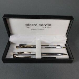 Pierre Cardin Pen and Pencil Gift Set w/ Bonus PDA Stylus Chrome w/ Gold Accents