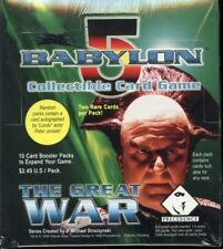 Babylon 5 The Great War CCG Booster Game 24 Sealed Card Box Case