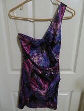 New Women's Pixie Lott Lipsy One Shoulder Geometric Multi Color Dress Size 8