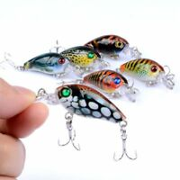 Fishing Lures Bass Tackle Hard Plastic Bait Deep Diving Crankbait Fishing Baits~