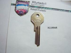Key Blank for Vintage Studebaker ignition 1949 to 1963  (X1199AR)