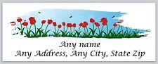 30 Personalized Return Address Labels Spring Flowers Buy 3 Get 1 free(c 604)