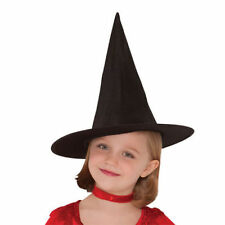 KIDS CHILDREN BLACK WITCH TALL HAT HORROR HALLOWEEN FANCY DRESS PARTY ACCESSORY