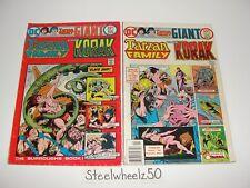 Tarzan Family #61 & 62 Comic Lot DC 1976 Korak John Carter Giant Joe Kubert RARE