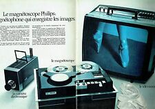 Publicité Advertising 067  1971  Philips  magnétoscope caméra télé ( 2 pages)