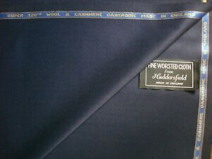 SUPER 120's WOOL WORSTED & CASHMERE SUITING FABRIC IN < GABERDINE > **See Below*