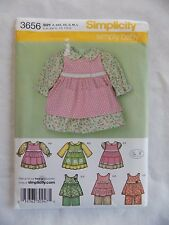 Simplicity Simply Baby 3656 Babies Dress Pinafore Pants Size A New Uncut Pattern
